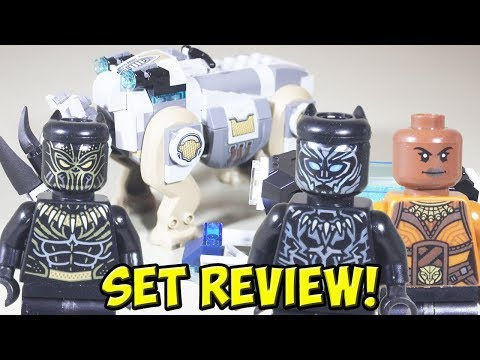 LEGO Black Panther: Rhino Faceoff by the Mine 76099 Set Review