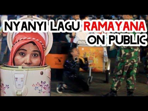 NYANYI LAGU RAMAYANA DI JAKARTA FAIR, NGAKAK PRANK INDONESIA