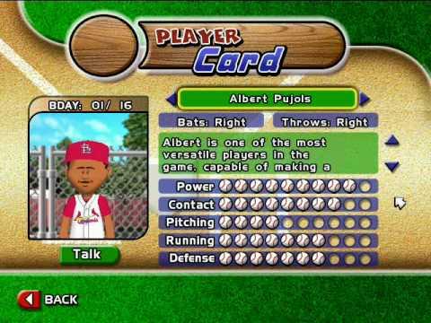 Backyard Baseball 2005   Albert Pujols Theme