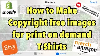 How to make copyright free designs for Redbubble | Passive income experiment