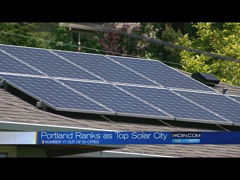 Portland a 'shining city' in solar power capacity