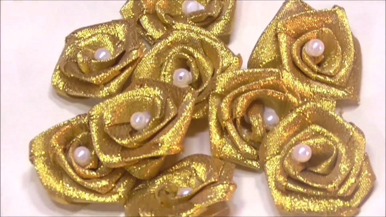 how to make ribbon roses youtube