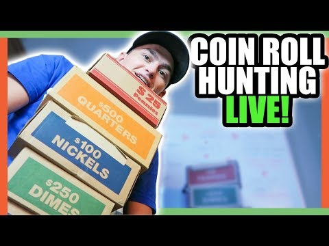 COIN ROLL HUNTING PENNIES - SILVER BAR GIVEAWAY!!