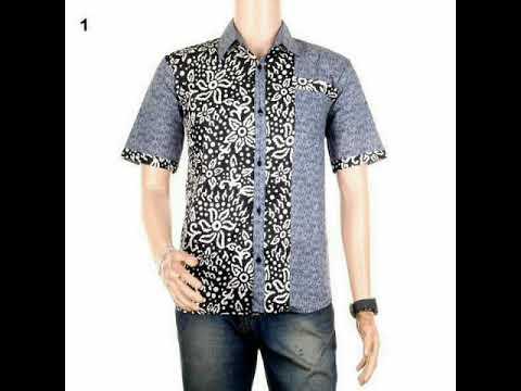 Atasan Baju Batik Pria Kemeja Kombinasi 2 Motif Model Terbaru