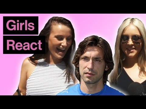 Girls React To Andrea Pirlo With And Without Beard