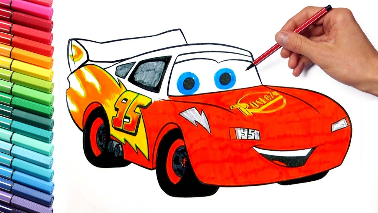 Coloring Pages Lightning McQueen Cars 3 Disney learning ...
