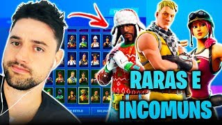 I REVEALED ALL MY UNUSUAL AND RARE SKINS! -Fortnite, the