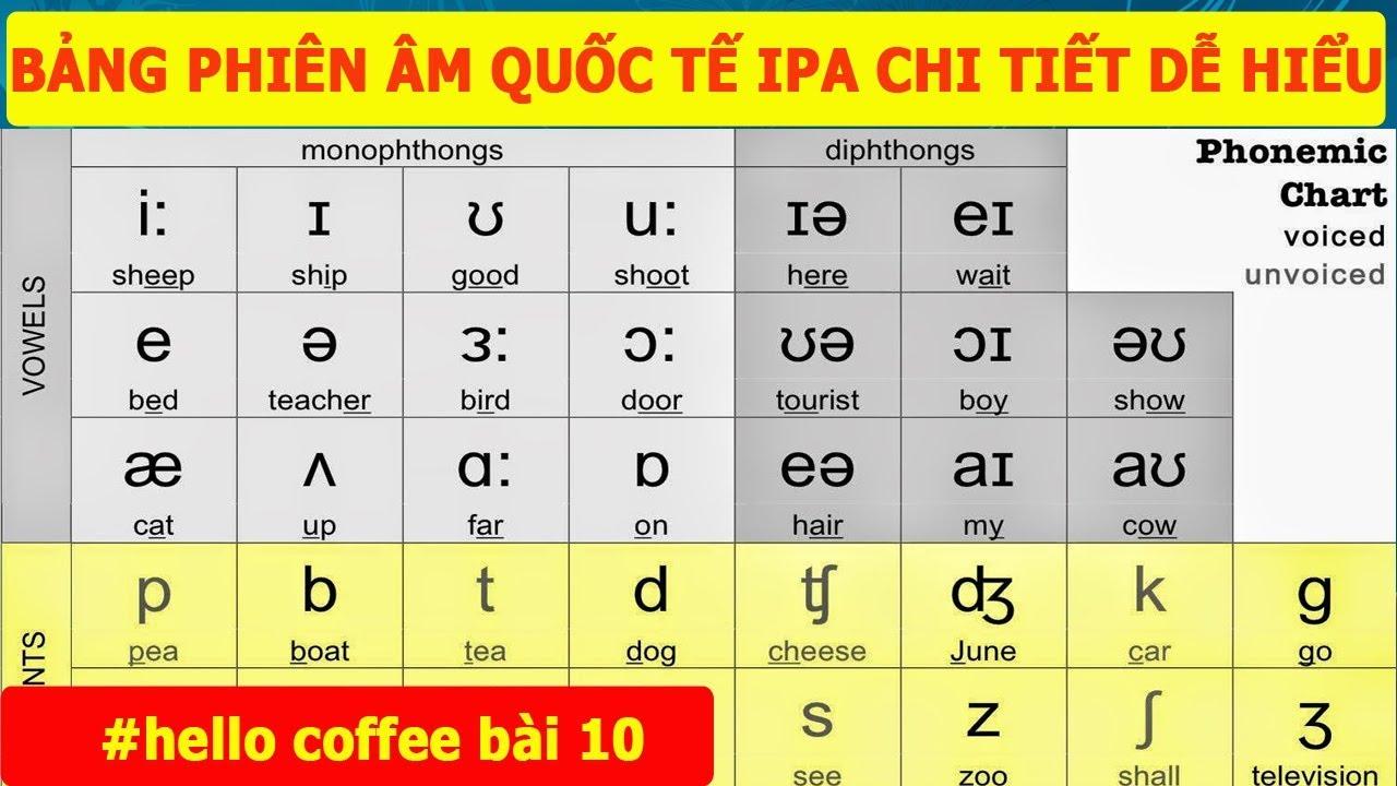 Học Phát Âm Tiếng Anh – Bảng Phiên Âm Quốc Tế IPA – Phát Âm Phụ Âm Tiếng Anh – Hello Coffee Bài 10