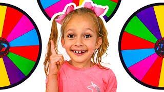 Maya juega el desafío de la comida de color - Video para niños