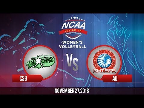 NCAA 94 Women's Volleyball: CSB vs. AU | November 27, 2018