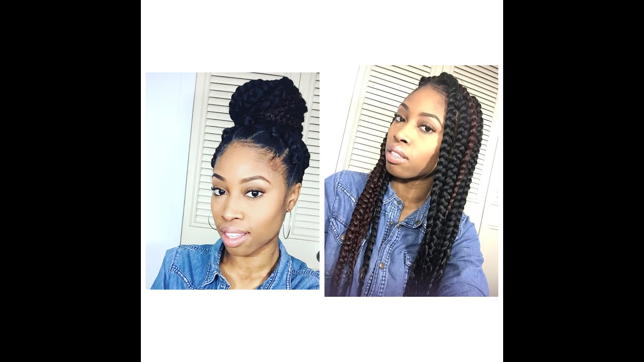 DIY Box Braids in under 2 hours| Style your braids - YouTube