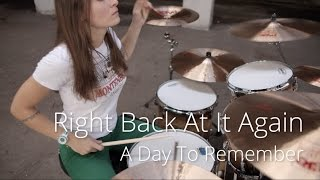 A Day To Remember - Right Back At It Again (drum cover by Vicky Fates)