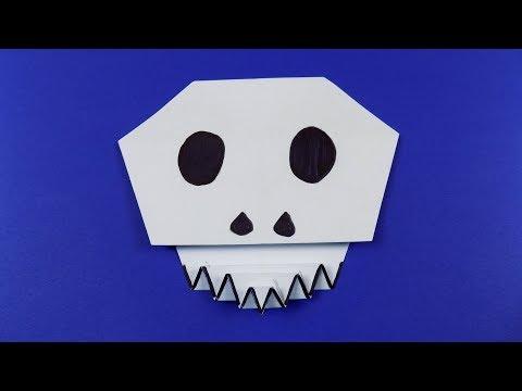 Origami Skull 💀 Paper Calavera - Easy Halloween DIY Decoration