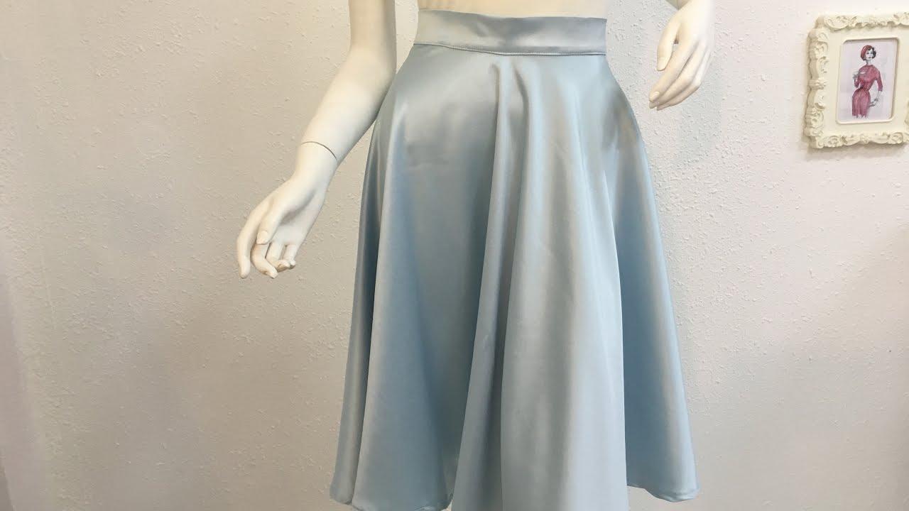 94420a0e9 طريقة قص وخياطة تنورة كلوش -How to sew a skirt - YouTube