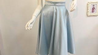 طريقة قص وخياطة تنورة كلوش -How to sew a skirt