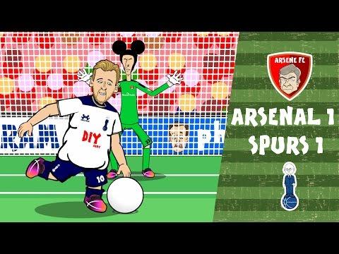 Arsenal vs Spurs in UNDER 2 MINUTES! 1-1 2016 (Parody Goals Highlights)