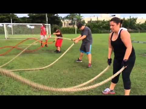 Outdoor Bootcamp agility drills, core work, and always cardio