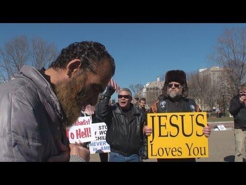Fanatics Bully Praying Man at the White House