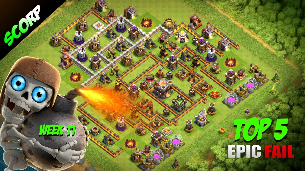 clash of clans th11 trophy base top 5 legend league epic fails week 11 youtube. Black Bedroom Furniture Sets. Home Design Ideas