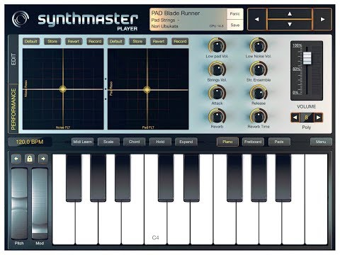 SYNTHMASTER PLAYER - Playing for Inspiration - Demo for the iPad