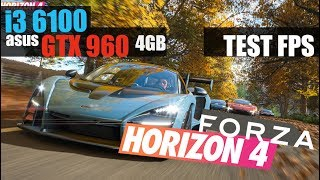 Forza Horizon 4 | i3 6100 | GTX 960 4GB | Frame Test With Monitoring 1080p