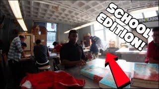 EPIC BOTTLE FLIPPING IN SCHOOL!