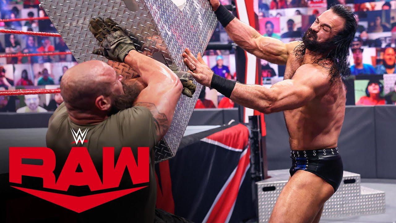 Drew McIntyre vs. Braun Strowman vs. Randy Orton – Triple Threat Match: Raw, April 12, 2021