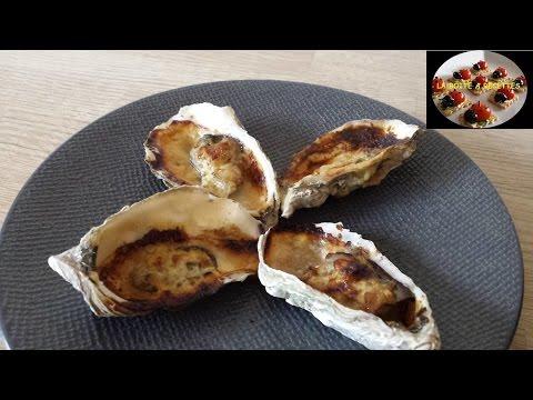 Huîtres gratinées au parmesan - APERITIF DINATOIRE - LA BOITE A RECETTES