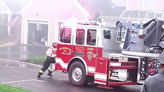 WHITEHOUSE NEW JERSEY WORKING FIRE 4/25/18 HUNTERDON COUNTY EARLY ARRIVAL AT A TOWNHOUSE FIRE