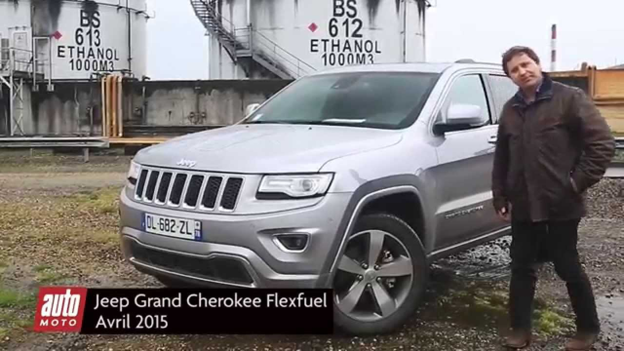 jeep grand cherokee flexfuel essai 2015 complet automoto youtube. Black Bedroom Furniture Sets. Home Design Ideas