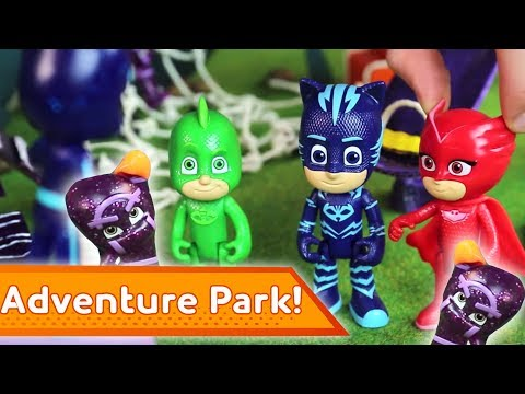 PJ Masks Creations 💜 Adventure Park Problems | Cartoons For Kids