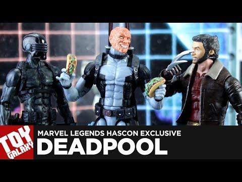 Marvel Legends Hascon Exclusive Uncanny X-Force Deadpool Review