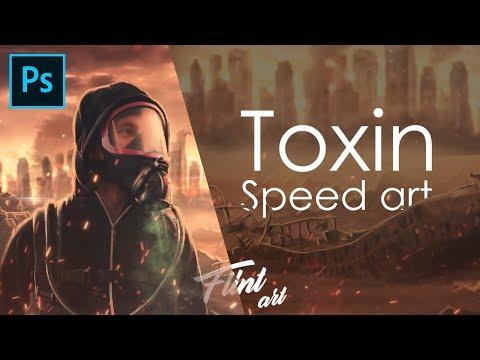 """Обработка фото в в стиле постапокалипсиса. """"Toxin"""" SPEED-ART"""