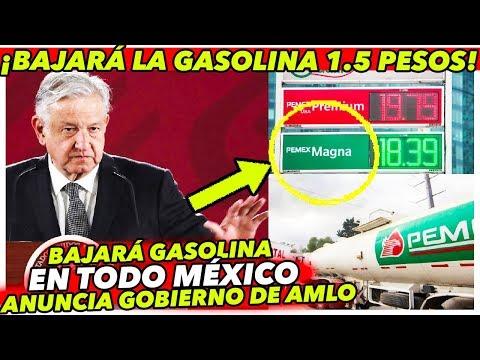 ¡DE ÚLTIMA HORA! Gobierno anuncia BAJA DE GASOLINA en todo México