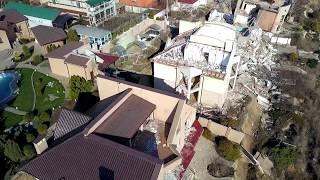 Оползень Черноморск, состояние на февраль 2018