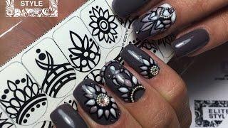 Sweet Bloom | Объемный дизайн | Cлайдеры-трафареты для свит блюма NailArt Elite-Style