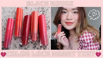 |SWATCH + REVIEW| BLACK ROUGE COLOR LOCK HEART TINT ♡  ROSIE PHAM