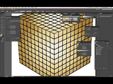 Modo 11 and Adobe Illustrator 3D Path-Curve Fun - Cube