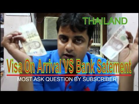 All About Money In Thailand [Visa on arrival vs bank statement]