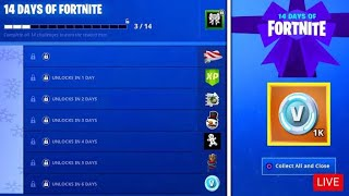 Fortnite 14 days of Christmas day 3 Christmas Present OP GIFT