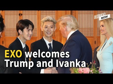 K-pop boy band EXO welcomes Trump and his daughter Ivanka with signed albums