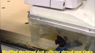 Geppetto Creations Laguna Cnc Router Making Round Discs With Modified Dust Collector