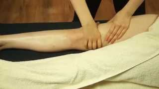 how to perform swedish massage on front of leg tutorial