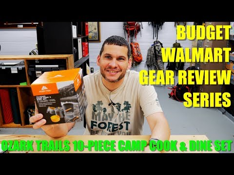 Ozark Trail 10-Piece Camp & Cook Dine Kit – Walmart Budget Gear Series