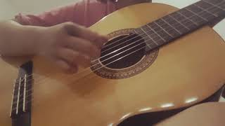 Cover lagu Happy birthday, Fingering Guitar