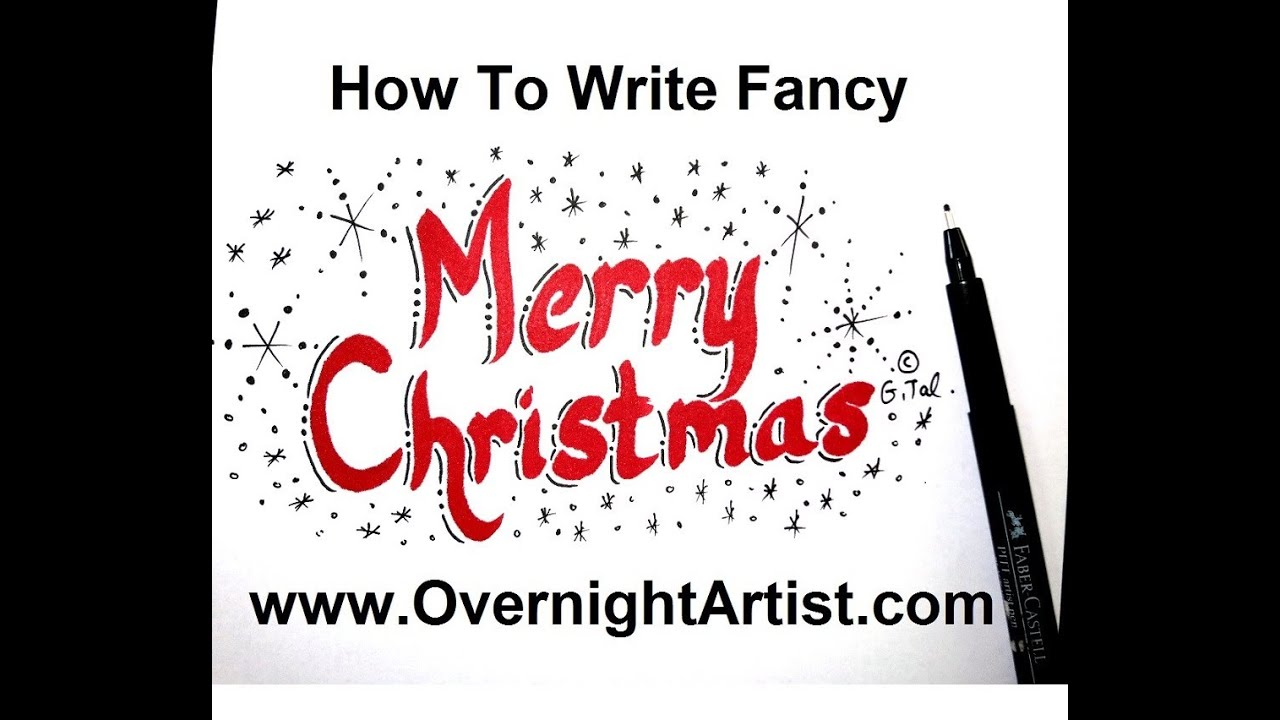 How To Write Merry Christmas - Calligraphy Style - YouTube