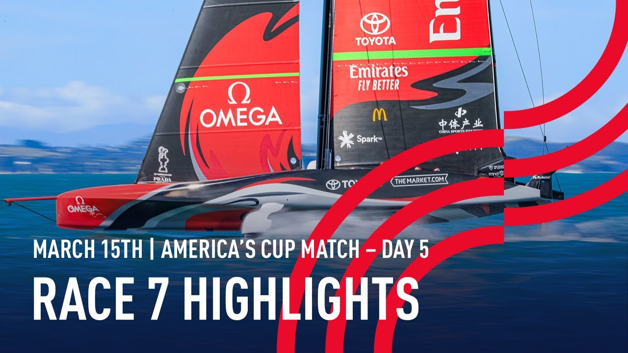36th America's Cup Race 7 Highlights