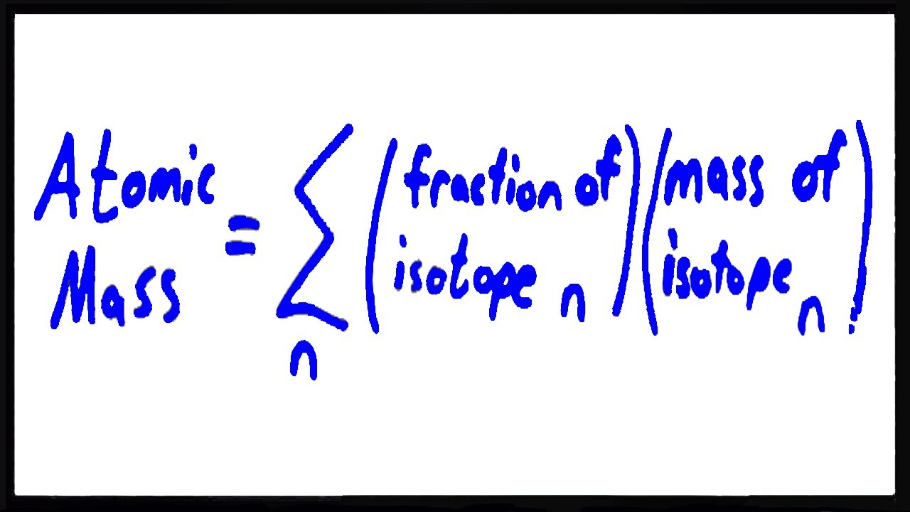 Calculating atomic mass using isotopes youtube calculating atomic mass using isotopes urtaz Images