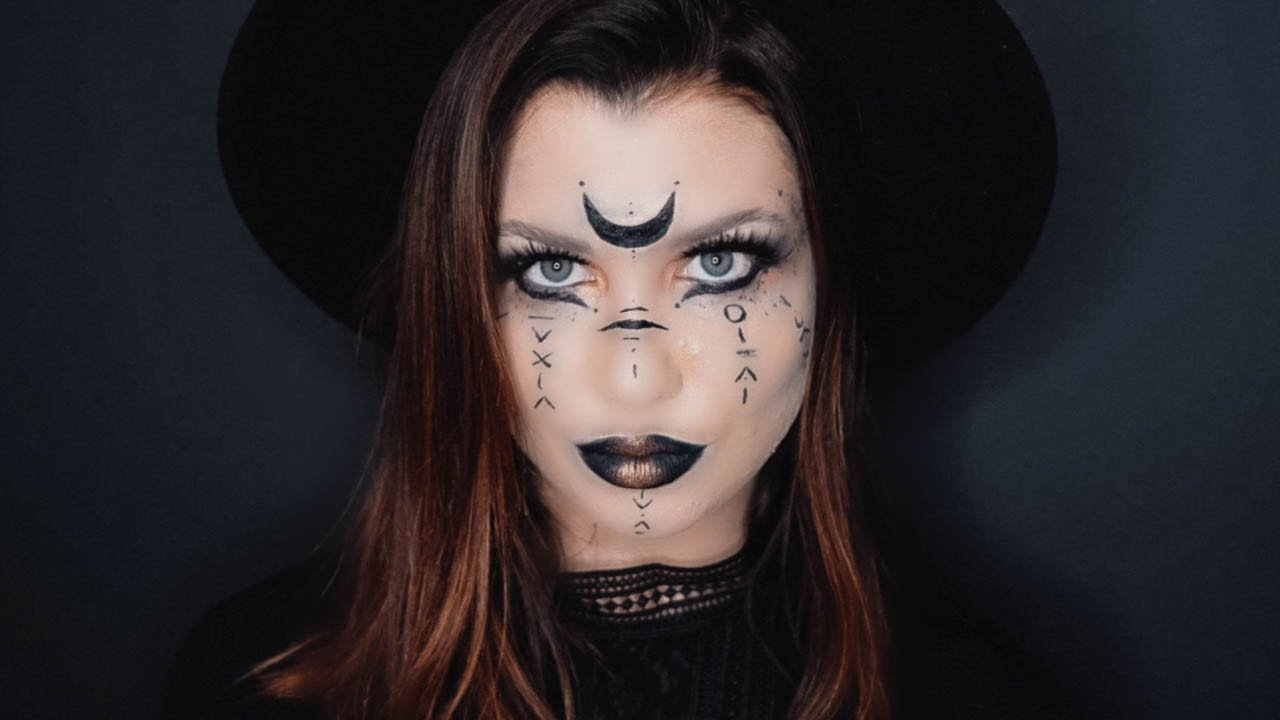 Ou Acheter Maquillage Halloween.Moon Witch Maquillage Halloween Facile 2019 Youtube