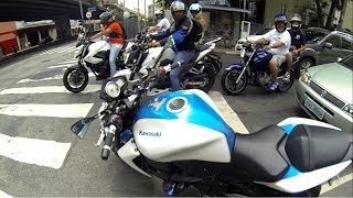 Rodrigo90 Z750 Branca - 10 motos acelerando juntas, mini role top, VOCÊS SÃO DEMAIS!